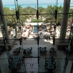 View from the lobby to the Olea restaurant