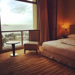 The suite room and the very beautiful view.