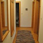 Hallway towards front door - bedroom and bathroom very separate from living area