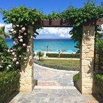 Porten til stranden