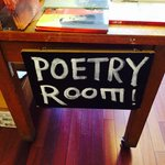 Upstairs in the Poetry Room