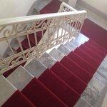 La scalinata per arrivare alle camere!!!