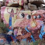 rock paintings at Chloride