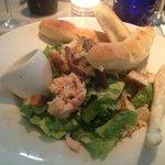 Chicken Caesar Salad, with four free dough sticks