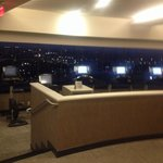 View of the city from fitness room nice and roomy