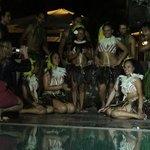 Photos avec le groupe polynésien