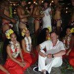 Photo avec le groupe polynésien