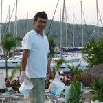 Mustafa (staff) who did a wonderful job of maintaining the pools