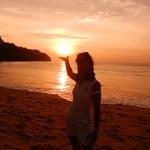 Sonnenuntergang festgehalten