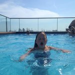 Roof top pool; small but fun!