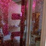 Duschvorrichtung mit integrierter sauna