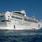 ship at sea at Calvi, Corsica
