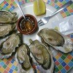 Assiettes d'huîtres de concarneau