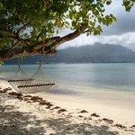 Lieblingsplatz: Strandabschnitt des Resorts mit Hängematte ;)
