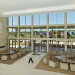 Hotel lobby - spacious with view to the golf course