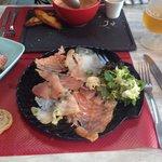 Entrée assiette de poisson fumé maison ( peut e partagé à 2 en entrée)