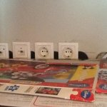 open electrical power sockets at the kids playroom, dangerous