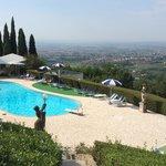 Veduta piscina villa patrizia