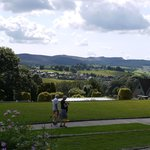 The formal garden and view
