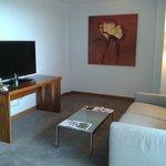 living area with lg flatscreen tv