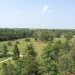 View of the state park from the top of the fire tower you can climb