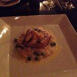 Mahi Mahi with scallop risotto