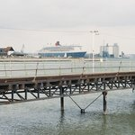 RMS Queen Mary 2 and Hythe Pier