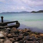 quatro ilhas desde o canto norte num dia de mar calmo