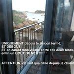 Vue mer du balcon fermé