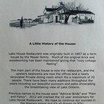Lake House History