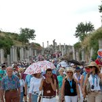 Crowded Curetes Street at Ancient Ephesus