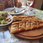 Minced meat and cheese pide