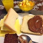 Breakfast- also includes eggs, coffee, meats, etc