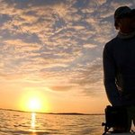 Running out at dawn for some tarpon fishing
