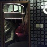 view of lander / bed from the door