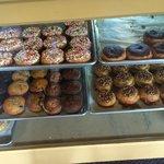 Bakery case cinnamon and pecan rolls