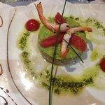 Salmon tartare and avocado
