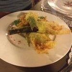 calabacines en tempura con su flor