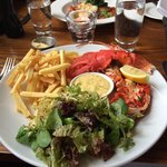 Lobster with skinny fries- delicious