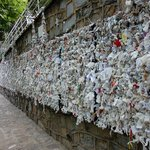 Wall of messages at the House of Virgine Mary site