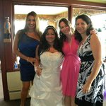 My best girls at my wedding at The Waterfront