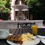 Breakfast in the courtyard