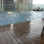 Stormy day by the pool