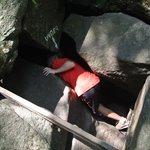 Rocks to climb through