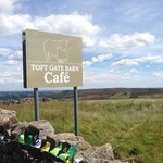 welcome break to cyclists before descending to Pateley Bridge
