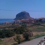 Monemvasia Rock with the castle ...