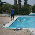 Cour de natation avec ma filles