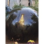 Glass ball with space needle reflection