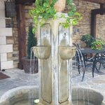 Outdoor Fountain and Seating