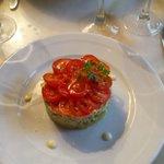 Emiété de tourteau en salade